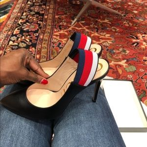 Authentic Gucci black leather sling back